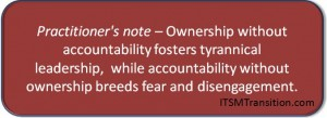Ownership and Accountability