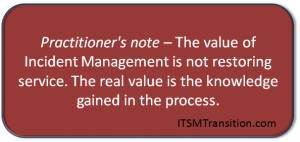 Practitioners Note Real Value of  Incident Management
