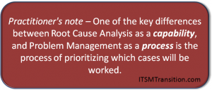 Problem Management and Root Cause Analysis